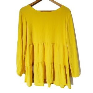 Yellow Tiered Blouse